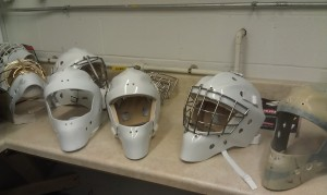 Masks waiting for cages