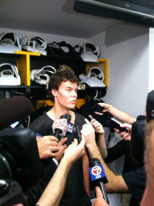 Tuukka Rask weathers the media storm at break-up day