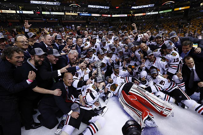 USP NHL: STANLEY CUP FINAL-CHICAGO BLACKHAWKS AT B S HKN USA MA