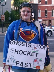 ghost of hockey players past puck bunny - Puck Bunny Halloween Costume