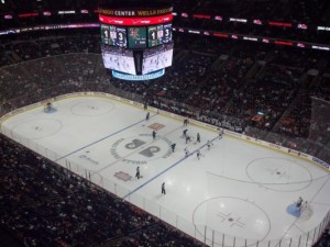 Penn State vs. University of Vermont in the 2013 matchup at Wells Fargo Center