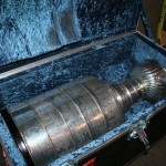 The Cup being packed up and ready for transport to the hotel!