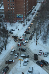 Nizhny Novgorod traffic jam. (Photo: Bernd Brückler)