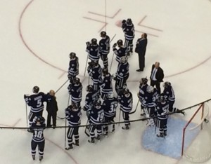 UNH Wildcats after loss.