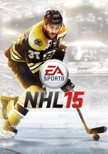 The cover that childhood dreams are made of: Box art for NHL 15 featuring cover star Patrice Bergeron, courtesy of EA Sports