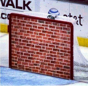 Action shot of Lundqvist and/or Quick in goal on any given day
