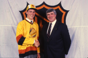 Above: Quinn with Linden in his rookie years.