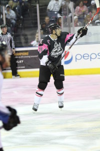Mario Larocque at Thunder Goes Pink IX photo: Asvitt Photography