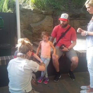 Brent Burns at a zoo in Australia