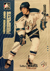 Adam McQuaid with Sudbury Wolves