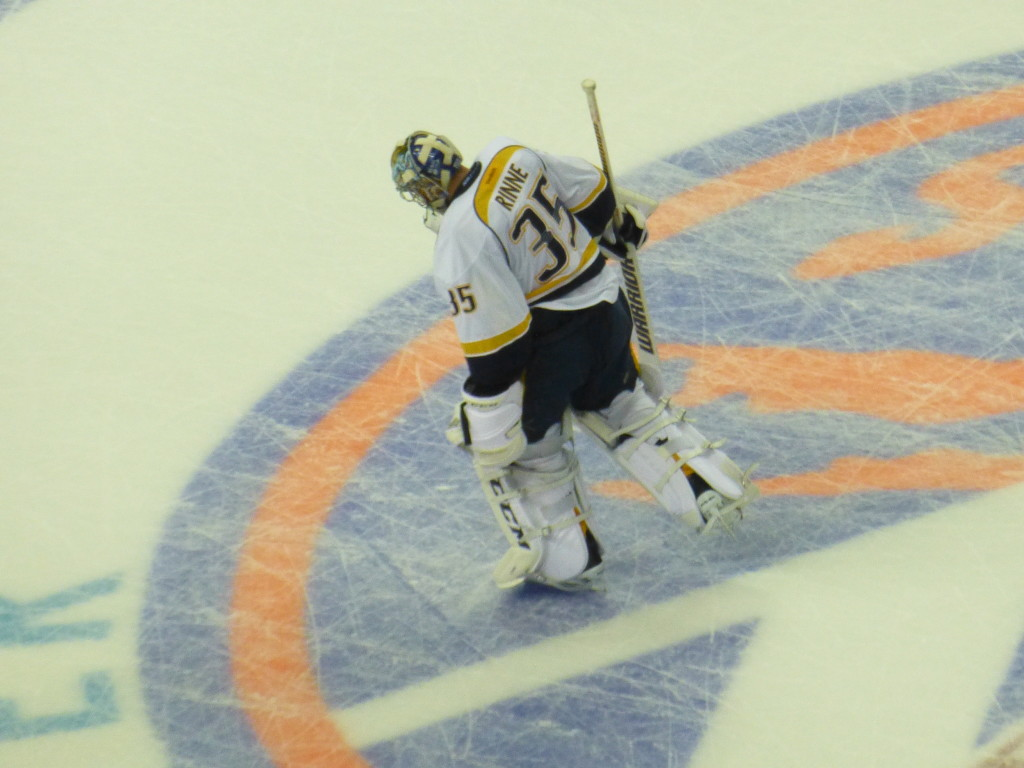 Oct 15 2015 Pekka Rinne in Brooklyn
