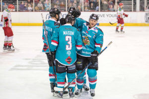 Adam Keefe celebrates a goal (Photo: Andy Gibson)