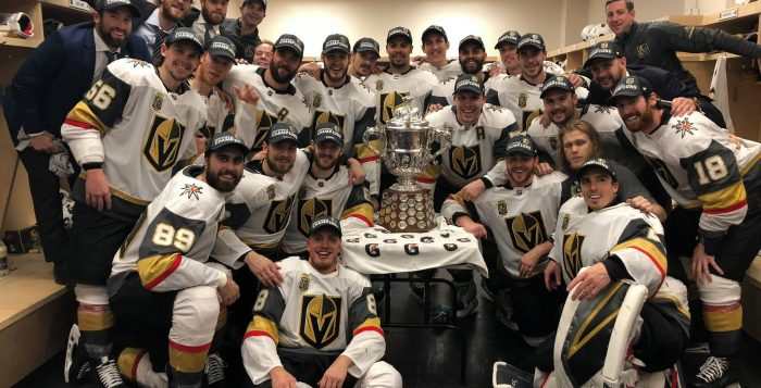Vegas Golden Knights with Campbell Bowl