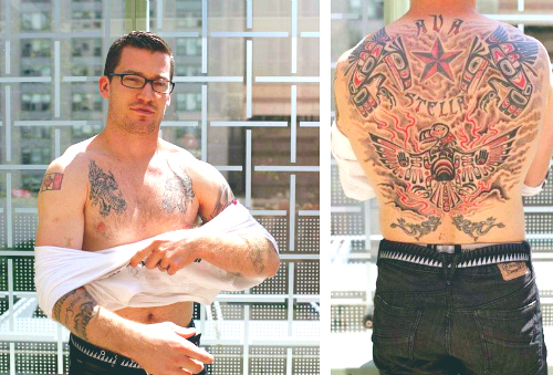 c8b16d6dcda98 Andrew Ference, an ex-Bruins and current-Oiler, is pretty much the king of  tattoos– good tattoos. He has his back entirely covered in a tribal, ...