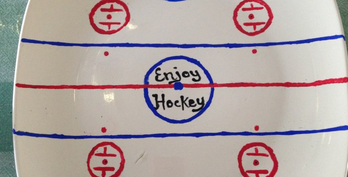 Diy Hockey Rink Serving Plate The Pink Puck